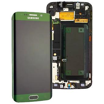 Display LCD set touch green of Samsung Galaxy S6 edge G925 G925F GH97 17162E