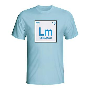 Lionel Messi Argentina Periodic Table T-shirt (sky Blue)