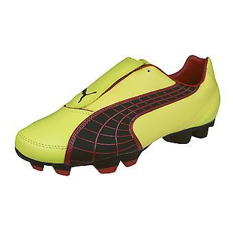 Puma V3.10 i FG Mens Leather Football Boots / Cleats - Yellow