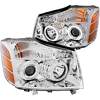 Anzo USA 111094 Nissan Crystal Chrome Headlight Assembly - (Sold in Pairs)