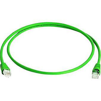 Telegärtner RJ45 Networks Cable CAT 6A S/FTP 50 m Green Flame-retardant, Halogen-free