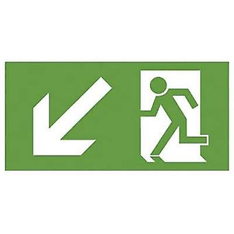 B-SAFETY F563-D Escape route sign Down left