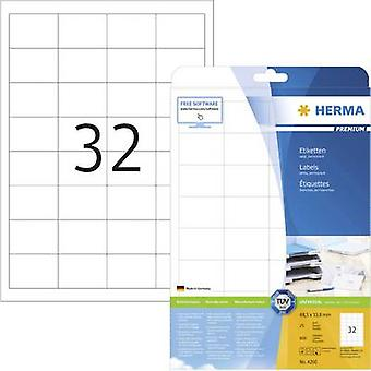 Herma 4200 Labels 48.3 x 33.8 mm Paper White 800 pc(s) Permanent All-purpose labels Inkjet, Laser, Copier 25 sheet A4