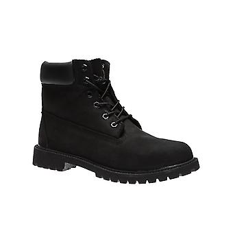 Timberland 6 inch premium leather boots kids black