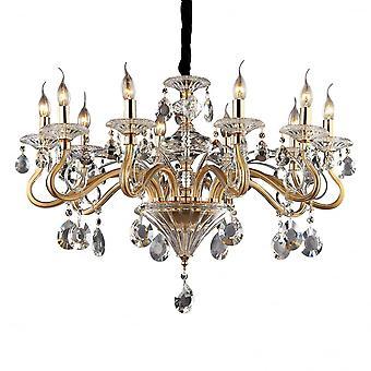 Ideal Lux Negresco 10 ampoule pendentif or léger