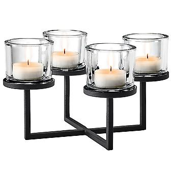 Giardino Lampadario lampadari cestino avvento corona candela titolare in acciaio verniciato a polvere combinato con vetro