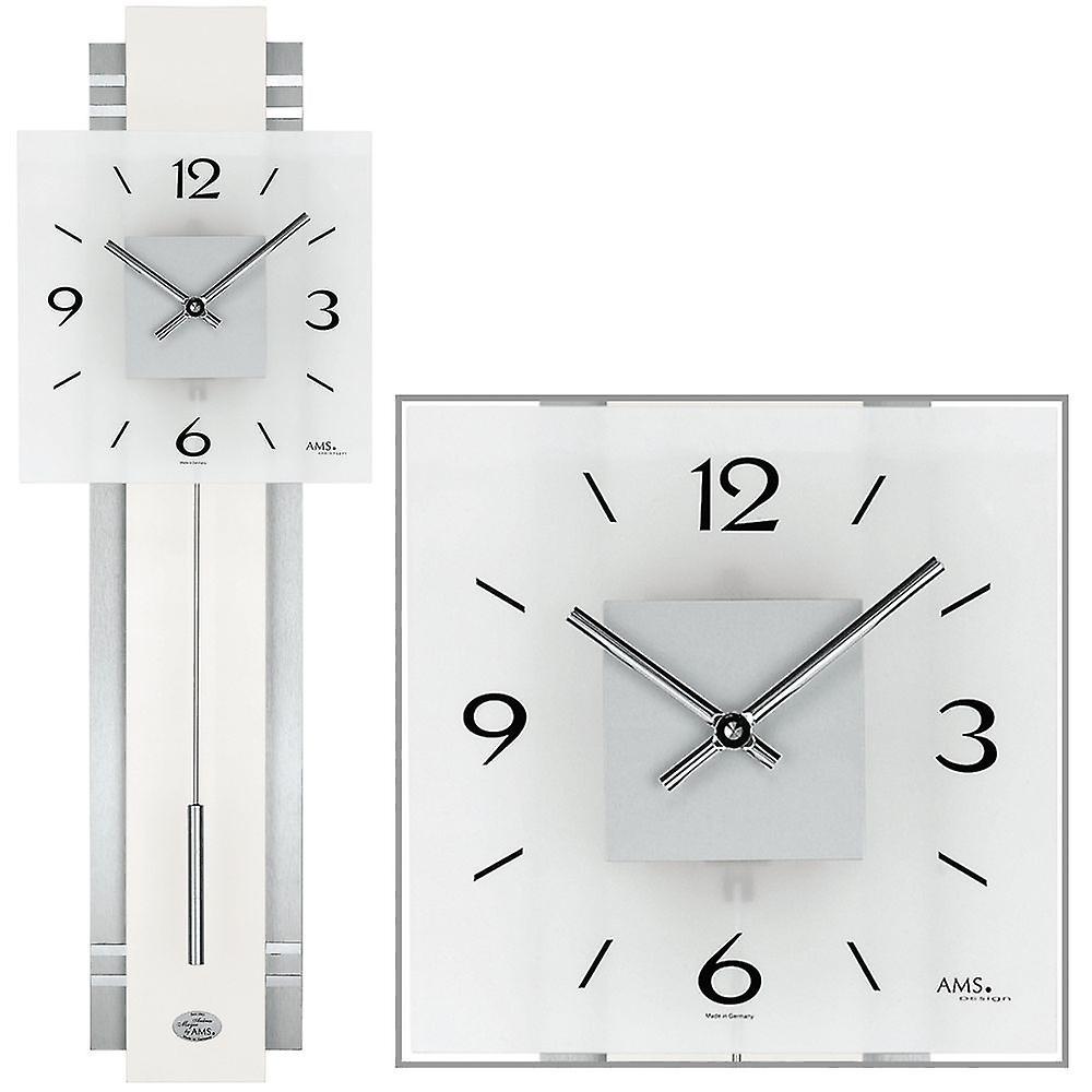 b94c5ed91 ساعة حائط ساعة الجدار مربعا الحديثة ساعة البندول فضية اللون الأبيض ...