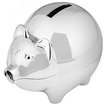 Orton West Piggy Bank Money Box - srebrny