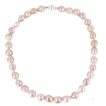 Pearl Aurora Sunset Freshwater Pearl Necklace - Baby Pink/Pale Mauve