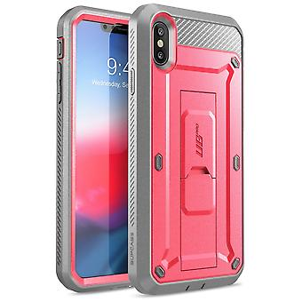 iPhone XS Max case, [Unicorn Beetle Pro Series] Full-Body Rugged Case with Built-In Screen Protector 2018 (Pink)