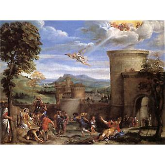 The Stoning of ST. Stephen, Annibale Carracci, 50x40cm