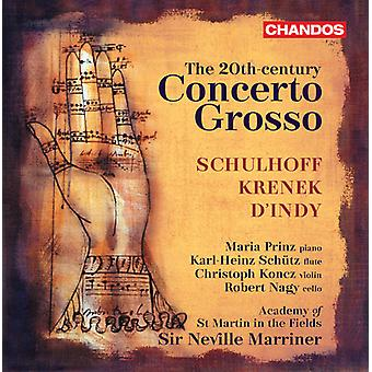 D'Indy/Krenek/Schulhoff - 20th Century Concerto Grosso [CD] USA import