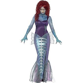 Zombie Mermaid Costume, UK 16-18