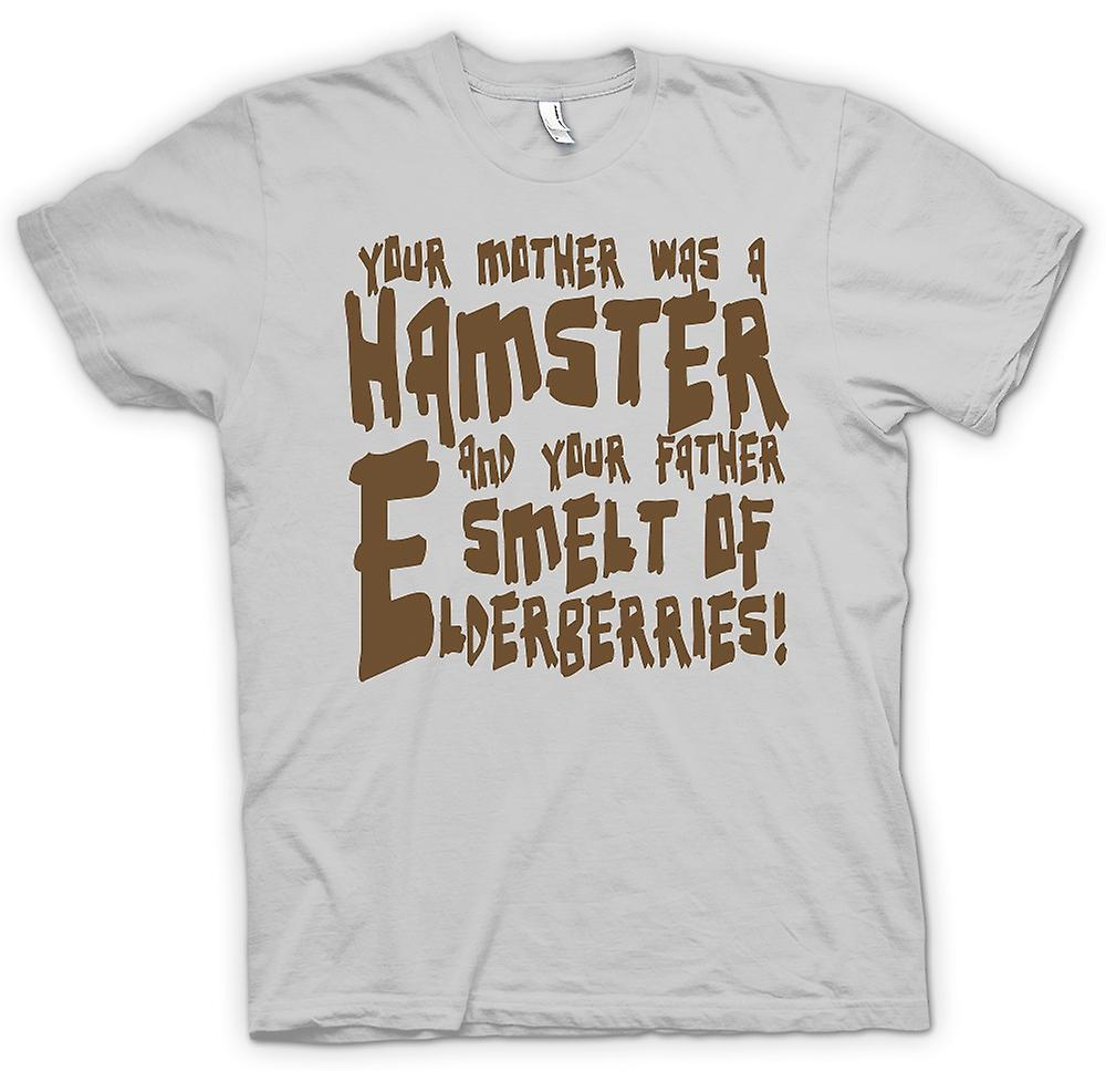 Heren T-shirt - je moeder was een hamster - grappige Quote