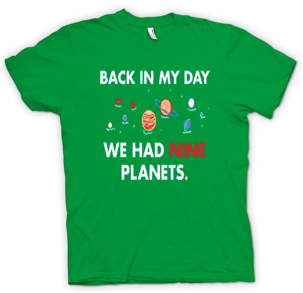 Mens T-shirt - Back In My Day Vi hade nio planeter - Pluto