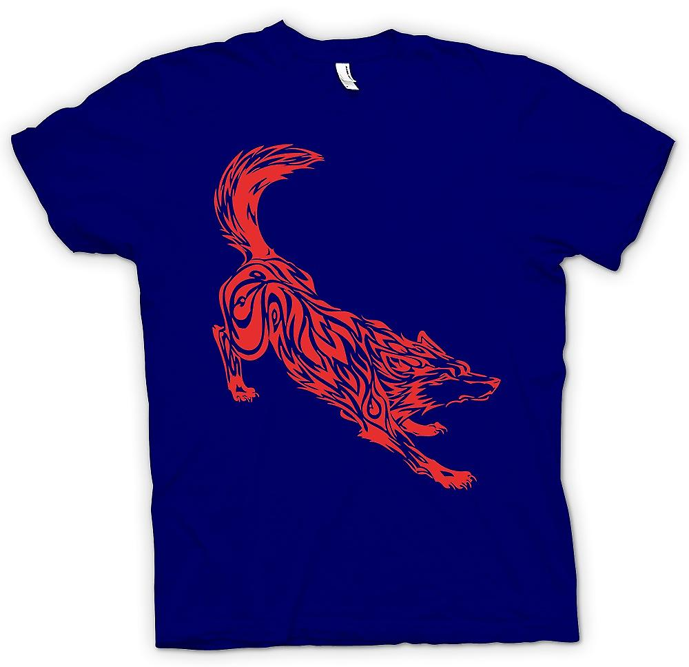 Mens T-shirt - Wolf Tribal Design