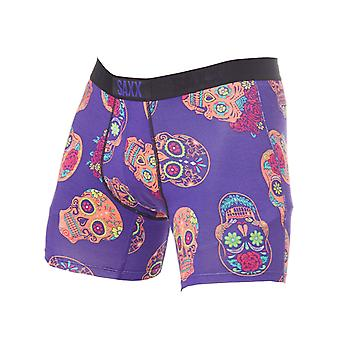 Saxx Purple Day Of The Dead Vibe Boxer Shorts