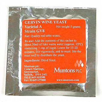 Gervin No 8 Red/White label Yeast