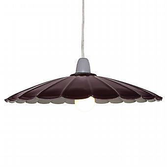 Burgundy Parasol Ceiling Pendant Shade - 34cm