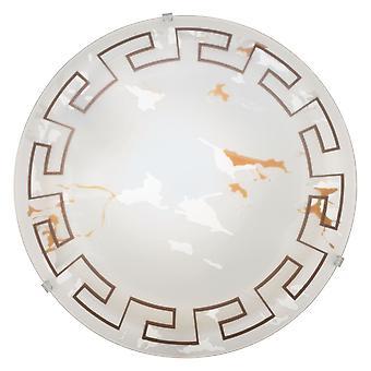 Eglo - Twister 1 traditionelle bündig Lichtdecke Marmor Lichteffekt Glas griechischen Stil Medium EG82877