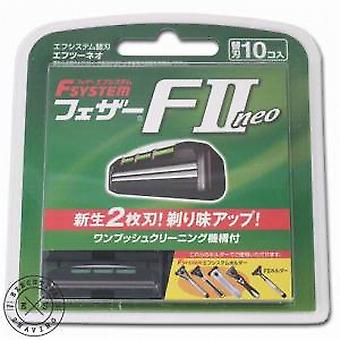 Feather FII Neo Cartridge Razor Replacement Blades (x10)