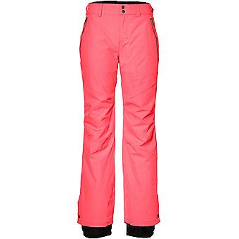 ONeill Neon Tangerine Pink Streamlined Womens Snowboarding Pants