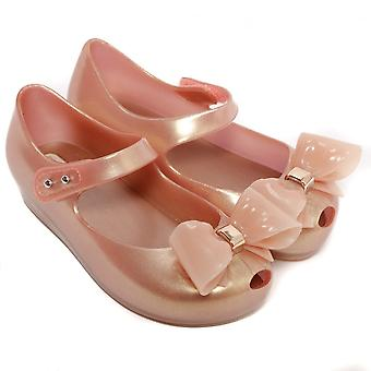 Melissa Shoes mini Ultragirl Bow 19 zapato, Blush Pearlizado