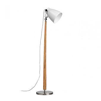 Premier Home Stockholm Floor Lamp / Uk Plug, Wood, Natural