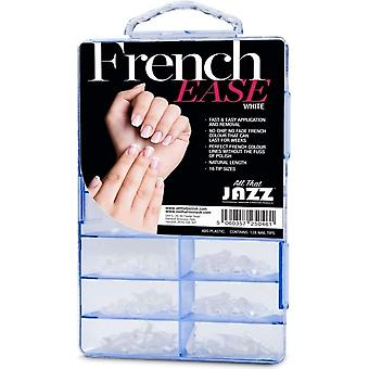 All That Jazz French Ease - False Nails - White