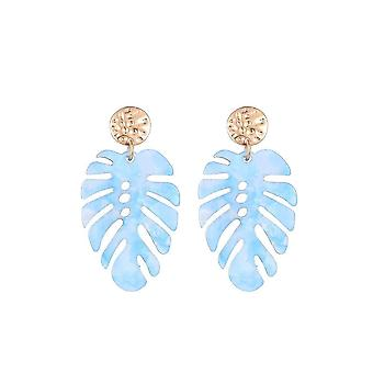 Jewelcity Sunkissed Womens/Ladies Tropical Leaf Earrings