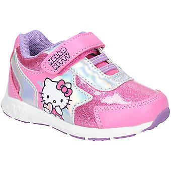 Leomil Girls Hello Kitty Bungee Laced Sparkly Sporty Shoes