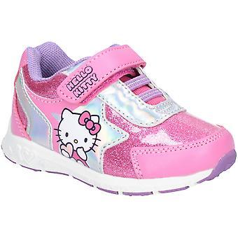 Leomil Mädchen Hallo Kitty Bungee Geschnürte funkelnde sportliche Schuhe