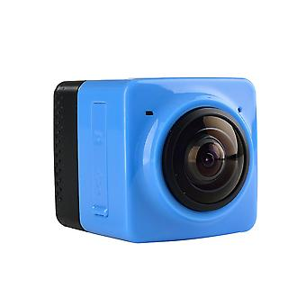 Mini wifi 360 degree panoramic wide angle action camera sports cam recorder with standard 1/4 screw interface - blue