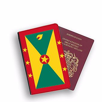 GRENADA Flag Passport Holder Style Case Cover Protective Wallet Flags design