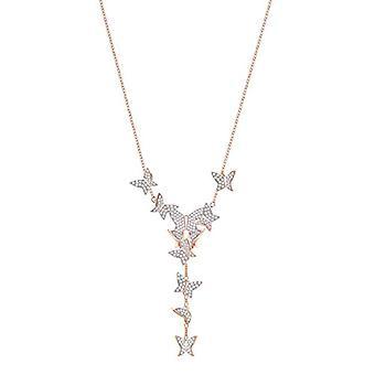 Swarovski Necklace Lariat Y Donna Vermeil - 5480512