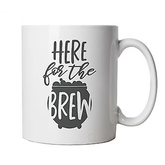 Here For The Brew Mug | Halloween Fancy Dress Costume Trick Or Treat | Hallows Eve Ghost Pumpkin Witch Trick Treat Spooky | Halloween Cup Gift