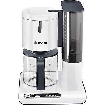 Coffee maker Bosch TKA8011 White, Anthracite Cup volume=10 Glass jug, Plate warmer
