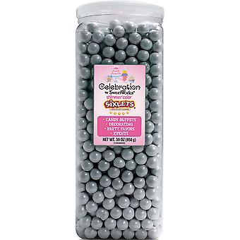 Celebrations By SweetWorks Sixlets(R) 30oz-Shimmer (TM) Silver CSX94608