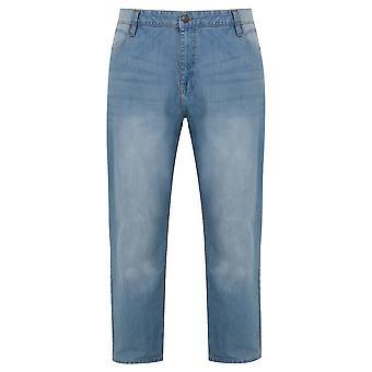 BadRhino Light Wash Denim Tapered Jeans - TALL