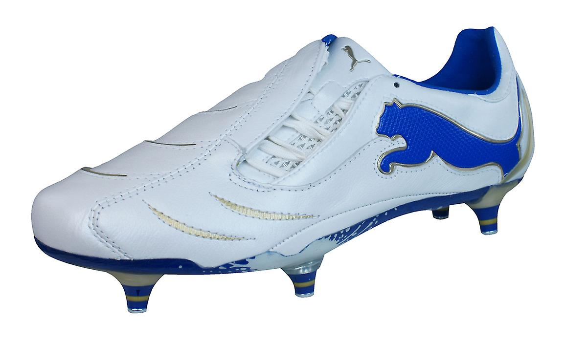 White Leather PowerCat Puma Puma SG Boots Mens 1 Blue Cleats 10 Football AXSSxzq