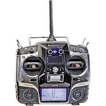 Graupner MX-20 Hott Handheld RC 2,4 GHz No. of channels: 12 Incl. receiver