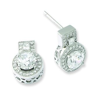 Sterling Silver and CZ Brilliant Embers Earrings