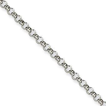 In acciaio inox lucido collana catena Rolo di fantasia aragosta chiusura 4,60 mm - Lunghezza: 18-36
