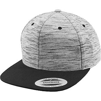 FLEXFIT STRIBER MELANGE Snapback Cap - sort / grå