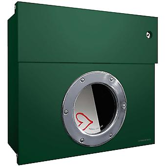 RADIUS Letterman dark green white 1 letterbox 506 O KW with LED ring