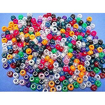 80g Glitter Pony Beads for Kids Crafts | Childrens Craft Beads