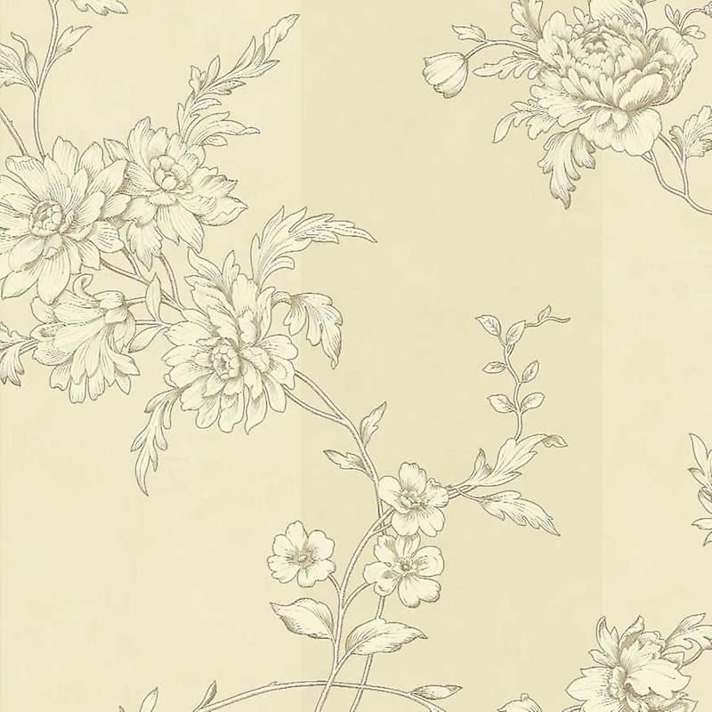 Floral Wallpaper Flower Sophie Conran Chantilly Motif Oyster Cream Arthouse