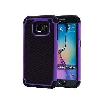 Caso di prova di urto + stilo per Samsung Galaxy S6 Edge (SM-G925) - viola