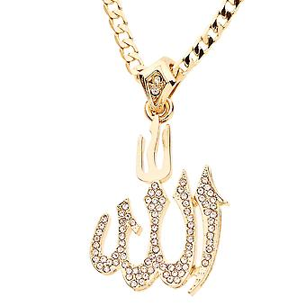 Iced out bling MINI chain - ALLAH gold