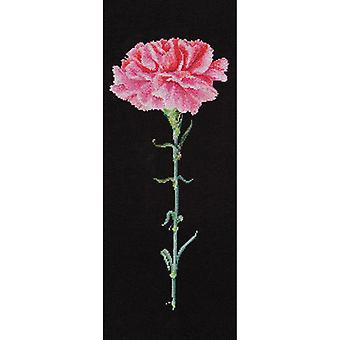 Carnation Pink On Aida Counted Cross Stitch Kit-6.5